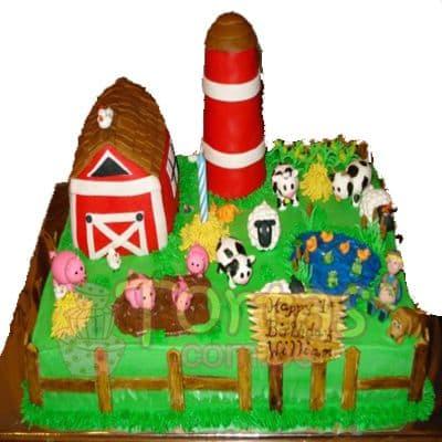 Torta de la Granja Zenon | Tarta infantil |  Torta de granja | Tortas de la granja - Cod:LGM13