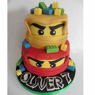 Torta Lego Ninjago | Imágenes de Torta LEGO | Pastel de lego - Cod:LGT02