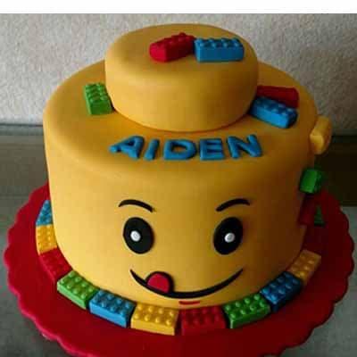 Torta Lego 03 | Imágenes de Torta LEGO | Pastel de lego - Cod:LGT06