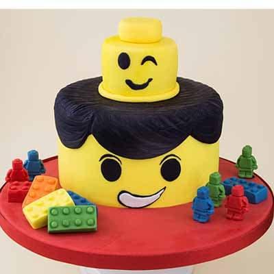 Torta Lego 05 | Imágenes de Torta LEGO | Pastel de lego - Cod:LGT08