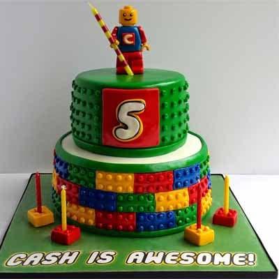 Torta Lego 06 | Imágenes de Torta LEGO | Pastel de lego - Cod:LGT09