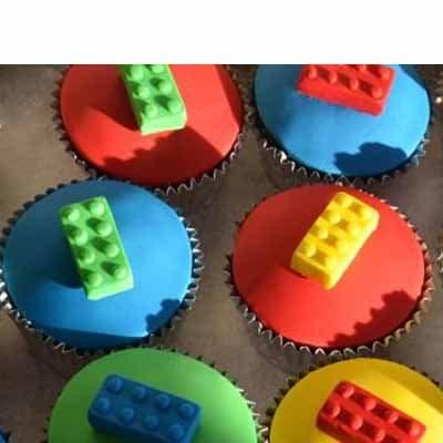 Muffins Lego 01 | Imágenes de Torta LEGO | Pastel de lego - Cod:LGT11