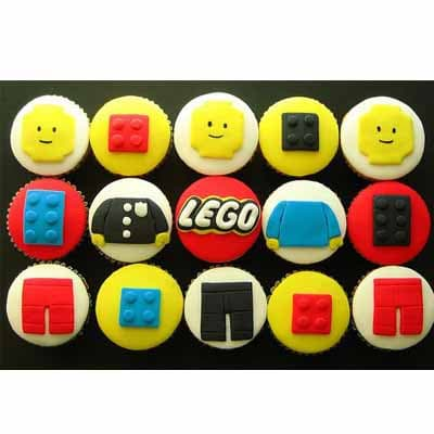Muffins Lego 02 | Imágenes de Torta LEGO | Pastel de lego - Cod:LGT12