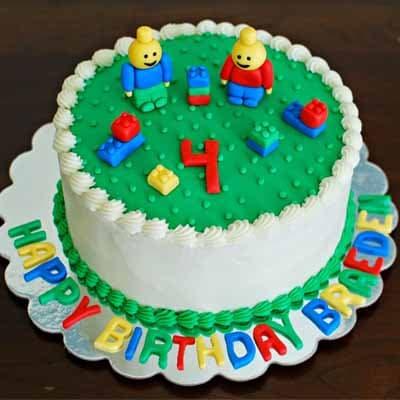 Torta Lego 09 | Imágenes de Torta LEGO | Pastel de lego - Cod:LGT17