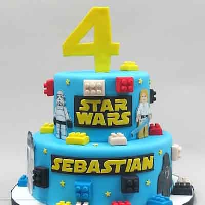 Torta Lego star wars 03 - Whatsapp: 980-660044