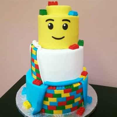 Torta Lego 11 | Imágenes de Torta LEGO | Pastel de lego - Cod:LGT23