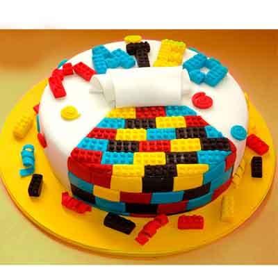Torta Lego 13 | Imágenes de Torta LEGO | Pastel de lego - Cod:LGT26