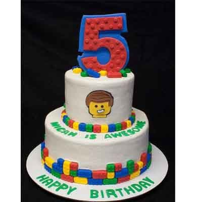 Torta Lego 14 | Imágenes de Torta LEGO | Pastel de lego - Cod:LGT28