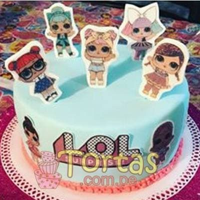 Torta LOL Surprise 08 | LOL Surprise Dolls Birthday Cake | Tortas de cumpleaños - Whatsapp: 980-660044