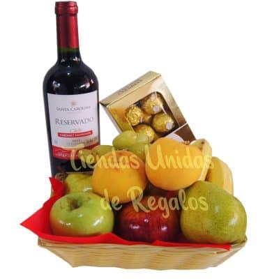 Delivery Vinos | Vino, Frutas y Ferrero Rocher | Vinos Delivery Lima | Delivery Vinos - Cod:LVN04
