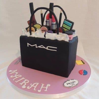 Torta Bolso con Maquillaje MAC - Whatsapp: 980-660044