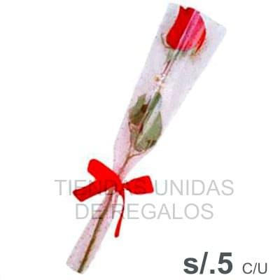 6 rosas con Celofan - Whatsapp: 980-660044