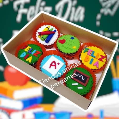 Regalos para el Día del Maestro | Cupcakes Dia del Maestro - Cod:MAE05
