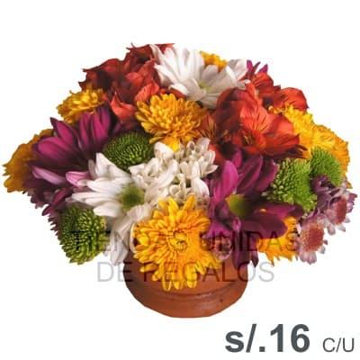 Arreglos x 5 - Codigo:MAE06 - Detalles: Espectacular arreglo floral de 20cm de altura aproximada con flores multicolores y base de ceramica, presentacion x 5 arreglos - - Para mayores informes llamenos al Telf: 225-5120 o 980-660044.