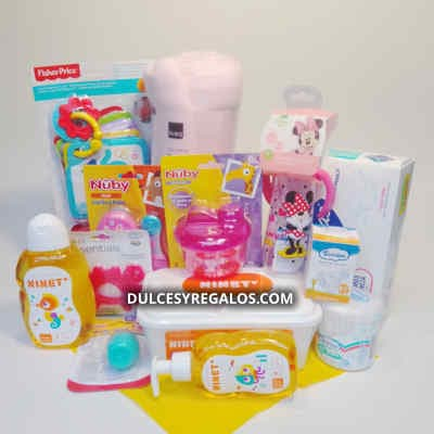 Arreglos para recien nacido | Canasta para bebito | Canasta para Recien Nacido - Cod:MCB07
