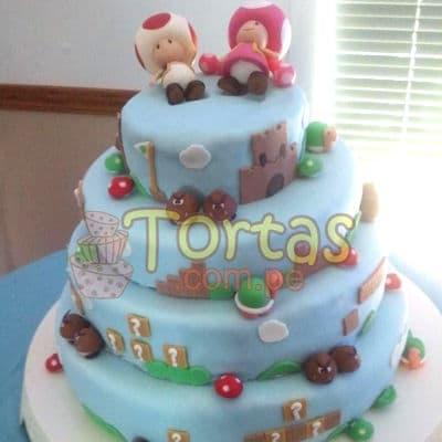 Torta de Mario Bros | Tortas Mario Bros  - Cod:MBK01