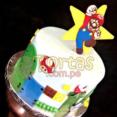 Torta con tema Mario Bros | Tortas Mario Bros - Cod:MBK04