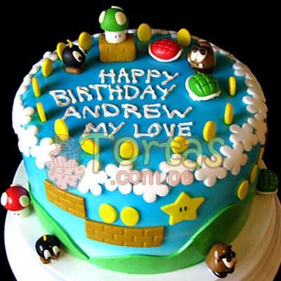 Torta tematica Mario Bros | Tortas Mario Bros - Cod:MBK05