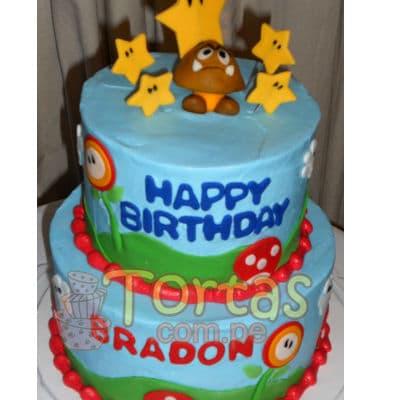 Torta de Mario Bros  | Tortas Mario Bros - Cod:MBK07