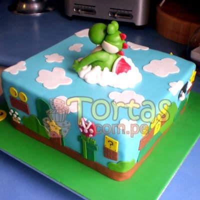 Torta de tema Mario Bros | Tortas Mario Bros - Cod:MBK08