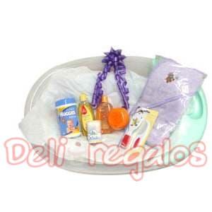 Arreglos para Recien nacidos | Canasta para bañar a bebe - Cod:MCB03