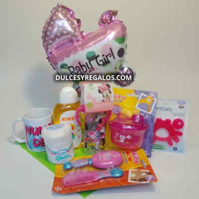 Cesta para Bebe Niña | Regalos para recien Nacida - Cod:MCB10