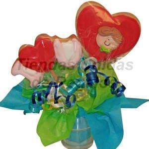 Macetitas de flores de chocolates 07 - Cod:MCF07