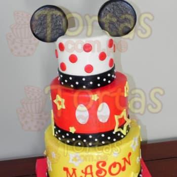 Torta Mickey Mouse | Torta Mickey Mouse de tres pisos - Cod:MCK03