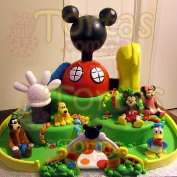 Torta de Casa de Mickey Gigante | Tortas De Mickey Mouse - Cod:MCK05