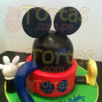 Torta Casita de Mickey - Whatsapp: 980-660044