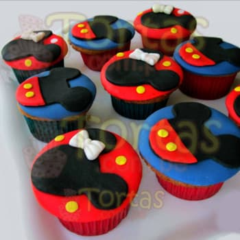Cupcakes de Mickey Mouse - Whatsapp: 980-660044