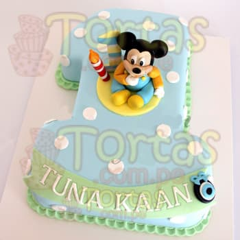 Torta Mickey Bebe  - Whatsapp: 980-660044