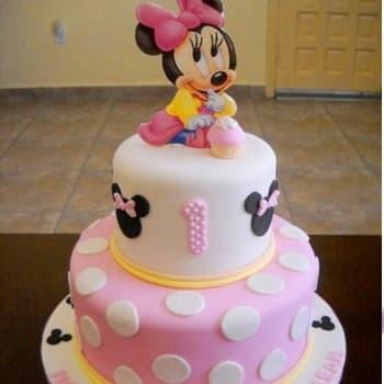 Torta Minnie Baby | Tortas De Minnie Mouse - Cod:MCK12