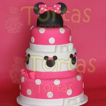 Torta Minnie Coqueta - Whatsapp: 980-660044