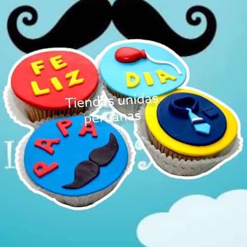 Cupcakes Feliz dia Papa - Whatsapp: 980-660044