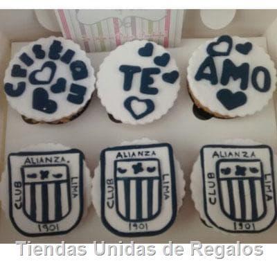 Cupcakes Alianza Lima | Regalos Cumpleaños delivery | Cupcake de Amor para Hombre - Cod:MCM21