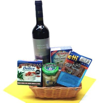Canasta de Vinos | Canasta para Regalo con Vino - Cod:MCN01