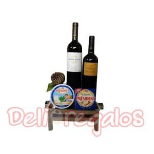 Canasta de Vinos | Canasta para regalo con Cava y Parilla - Cod:MCN03