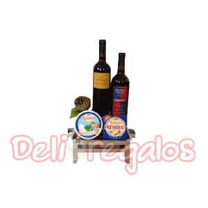Canasta para Regalar con Parilla y Vinos | Canasta Regalo con Vinos, Canasta para vino en Mimbre - Cod:MCN04