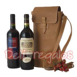 Canasta para Regalo con Malentin y Vinos  | La Canasteria | Canasta Regalo con Vinos - Cod:MCN21