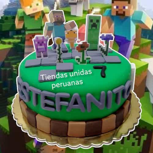 Torta de tematica Minecraft - Cod:MCT02