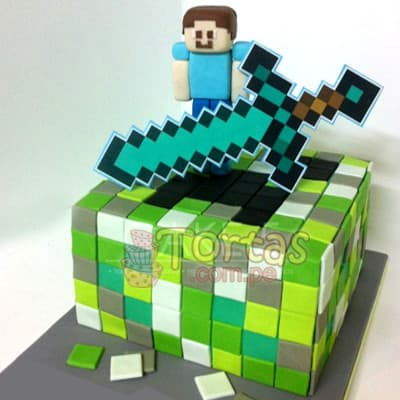 Torta de MineCraft - Cod:MCT04