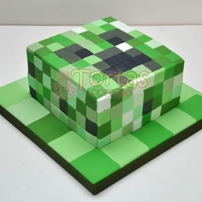 Torta con tematica MineCraft | Tortas Minecraf | Tortas | Torta Minecraft - Cod:MCT05