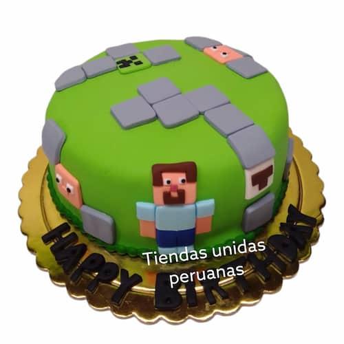 Torta de tema de MineCraft | Tortas Minecraf | Tortas | Torta Minecraft - Cod:MCT06