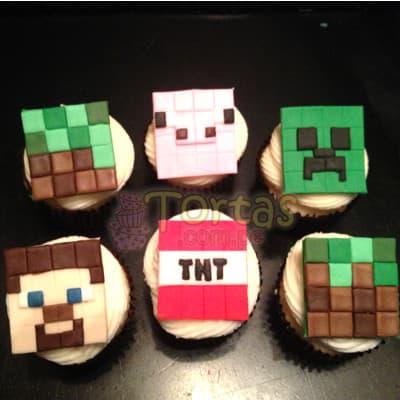 Cupcakes de MineCraft | Tortas Minecraf | Tortas | Torta Minecraft - Cod:MCT09
