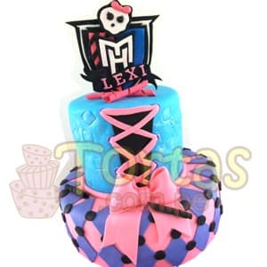 Torta con tema Monster High  | Tortas Monster High - Whatsapp: 980-660044