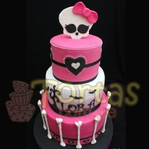 Torta Monster high de tres pisos - Cod:MHI08