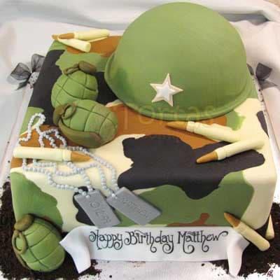 Torta Casco Militar - Cod:MIL02