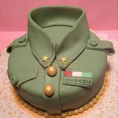 Torta Uniforme Ejercito - Cod:MIL03