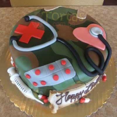 Torta Medico Militar  - Cod:MIL04